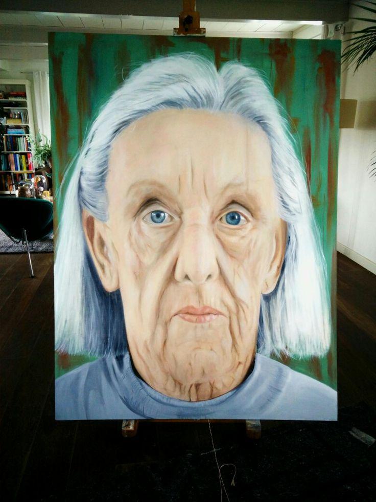 Oil on canvas, titel  ; Mam 120x180cm. By Ruud van Straten