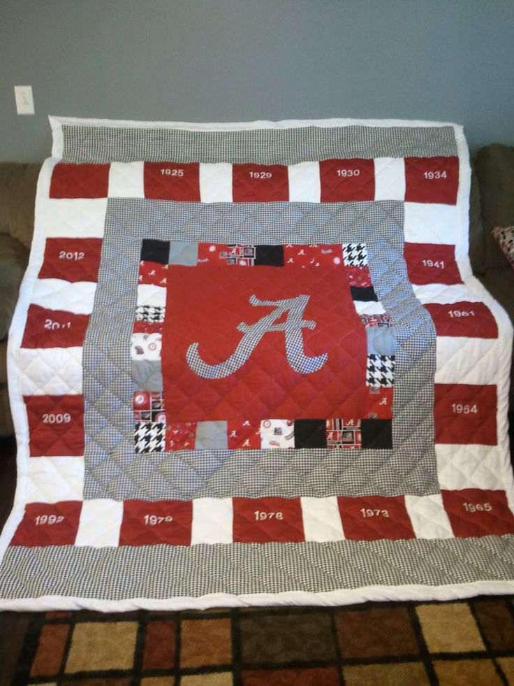 Alabama+ROLL+TIDE+handmade+Quilt+wwith+National+by+sabrinascrafts,+$250.00