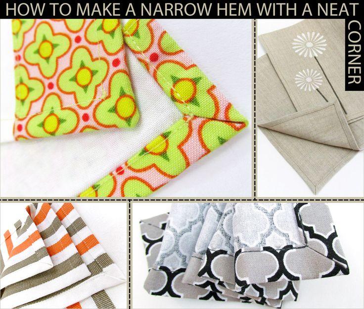 How+to+Make+a+Narrow+Hem+with+a+Neat+Corner