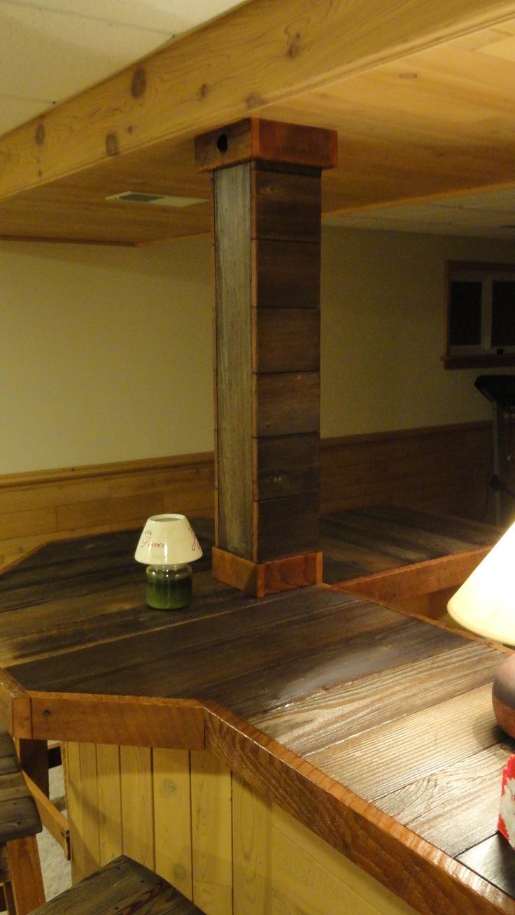 Lakeland mills twin over queen bunk bed amp reviews wayfair - Custom Recycled Cedar Wood Bar Stools