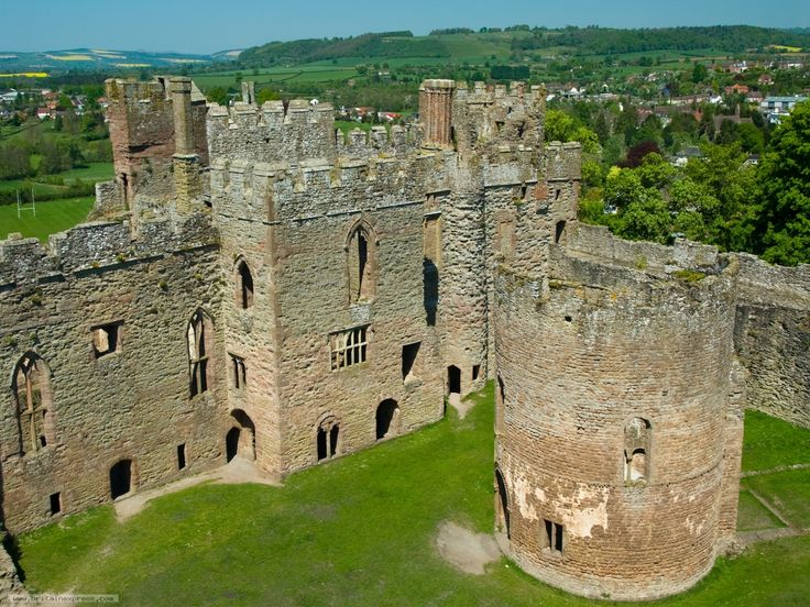 Ludlow Castle the finest of medieval ruined castles is set in glorious Shropshire countryside.
