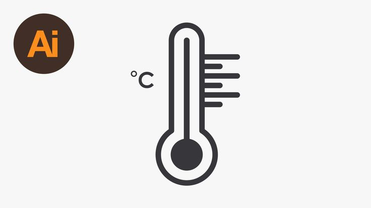 Draw Thermometer Icon | Illustrator Tutorial - http://tutorials411.com/2016/09/15/draw-thermometer-icon-illustrator-tutorial/