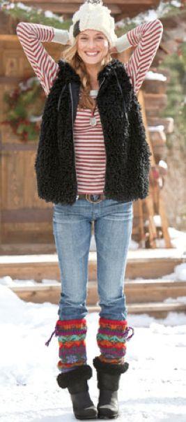 王道の組み合わせブーツとレッグウォーマー☆レッグウォーマーを取り入れたコーデ☆スタイル・ファッション・着こなしの参考に♪