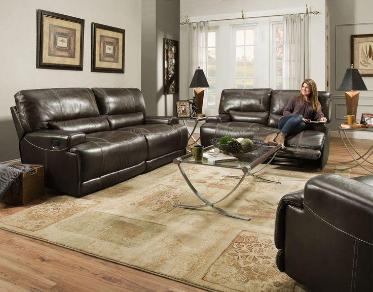 Corinthian 81008 Elite Charcoal Sofa And Loveseat U2013 My Furniture Place