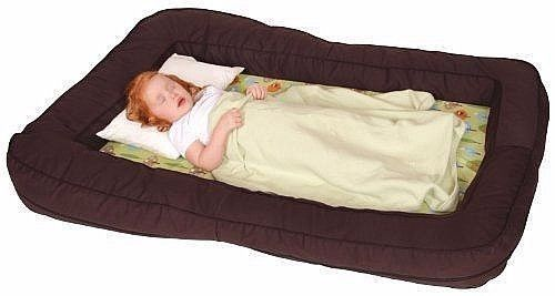 Leachco BumpZZZ Travel Bed Brown/Green Forest Frolics Infant Toddler Travel Bed #Leachco