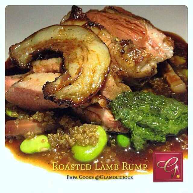 Roasted lamb rump, quinoa and bacon risotto, broadbean, bacon jus. At Papa Goose (Melbourne) #melbourne #food #eat #foodporn #yum #delicious #amazing #foodpics #lamb