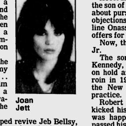 """My first record was """"I Love Rock and Roll"""" and my early adolescence was styled in Joan's image: high tops and high hair. She was -- and is -- a glass ceiling smasher, an original rocker, and a patriot in the unskeezy sense of the word. In 1985, she saved a 3 year-old boy from drowning at the beach. """"To me, it was just trying to help somebody,"""" said Jett, 24. """"I didn't even think about it. I just did it."""""""