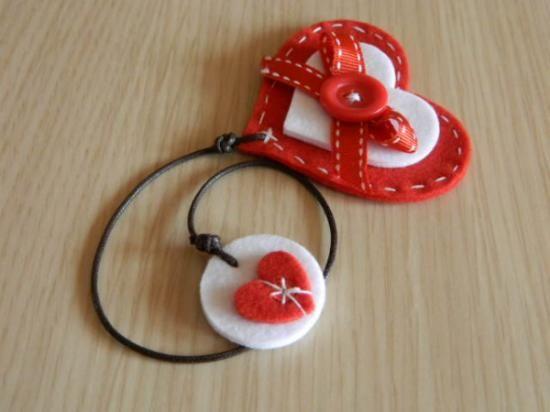 segnalibro a cuore in feltro feltro,bottoni,cotone feltro lavorato,cucito…