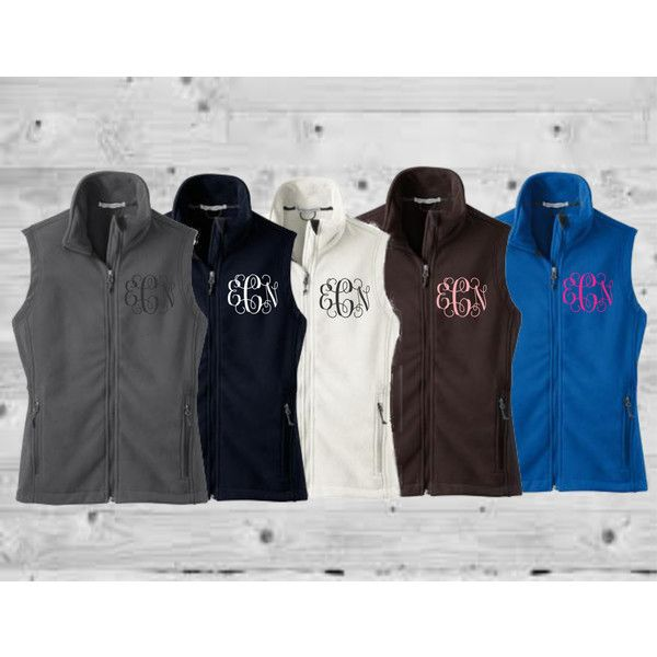 Monogrammed Vest Monogrammed Fleece Vest Monogram Vest Monogrammed... ($25) ❤ liked on Polyvore featuring outerwear, vests, black, women's clothing, vest waistcoat, zip vest, monogrammed fleece vest, zipper vest and monogrammed vest