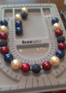 DIY chunky bead necklace