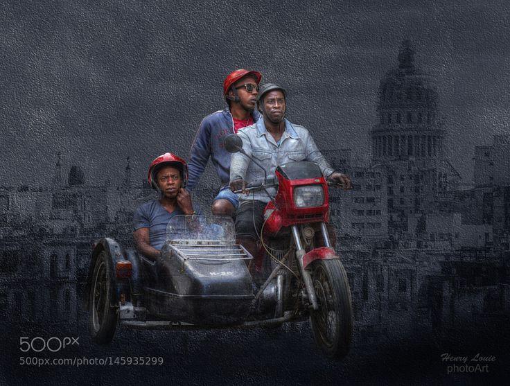 Cuban Jawa Sidecar Motorcycle by henrylouiephotography
