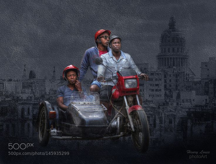 Cuban Jawa Sidecar Motorcycle by henrylouiephotography