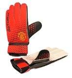 Manchester United Kids Goalie Gloves, Red/Black/White