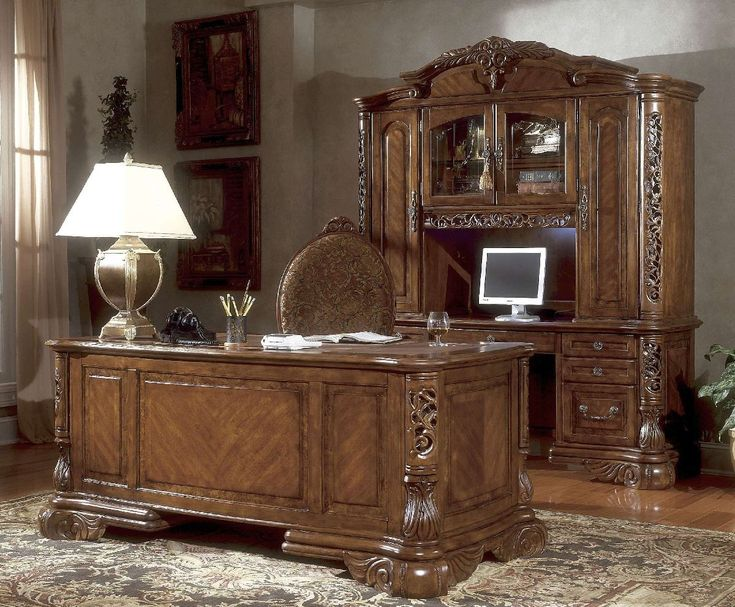 Michael Amini Excelsior Home Office Furniture Set By