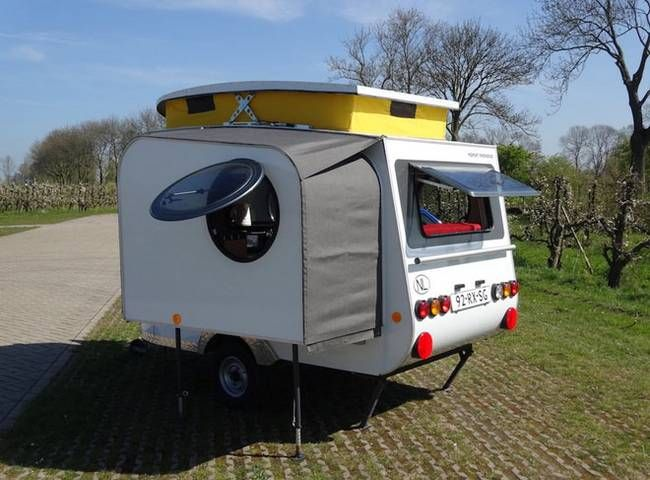 Man builds his own expandable lightweight micro-camper