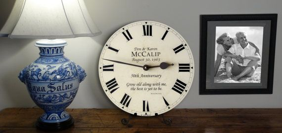 Custom 50th 40th 25th Anniversary Clock  Personalized with