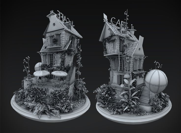 Cartoon house by Lukasz Michalczyk | Cartoon | 3D | CGSociety