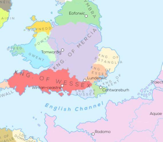 Europa Und Umgebung Im Jahr 800 N Chr Romisches Reich Europa