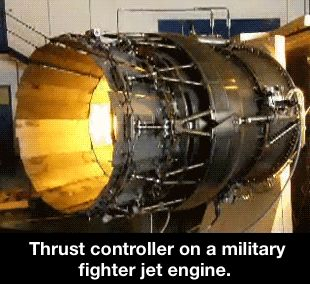 A Pratt & Whitney F100-PW-229 turbofan equipped with Pratt & Whitney P/YBBN 20-degree three-dimensional thrust vectoring nozzles. 2 of these engines were used on the McDonnell Douglas F-15 ACTIVE