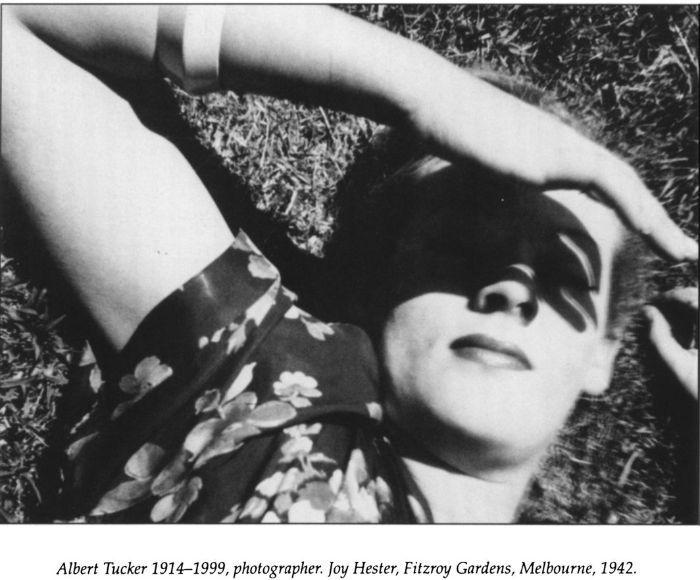 Albert Tucker (1942) Joy Hester, Fitzroy Gardens, Melbourne.