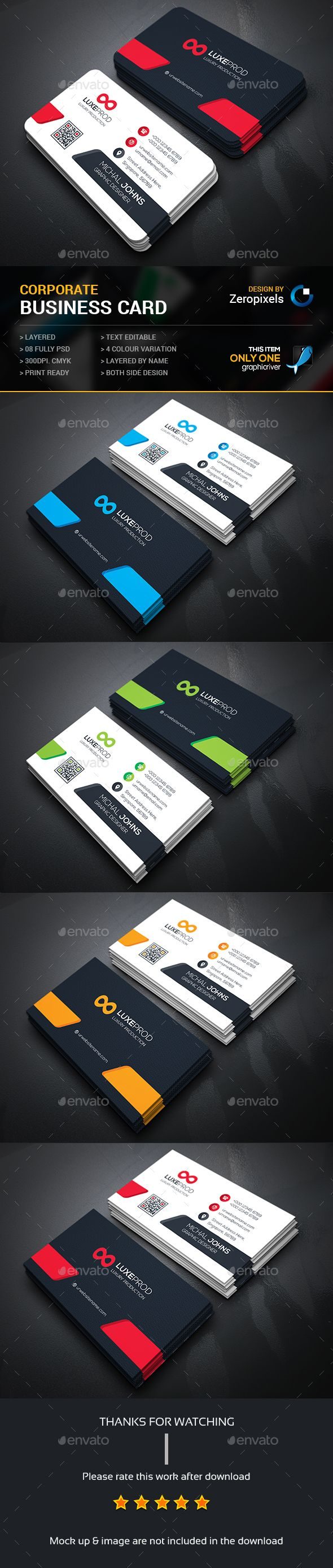 Creative Business Card — Photoshop PSD #green #white • Available here → https://graphicriver.net/item/creative-business-card/15223974?ref=pxcr