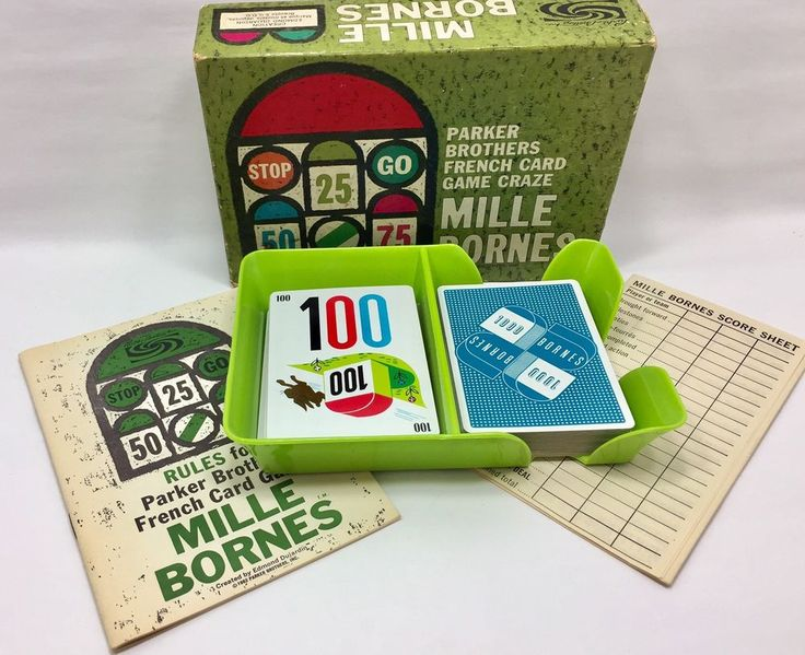 1962 Mille Bornes French Card Game Parker Brothers Vintage Complete #ParkerBrothers