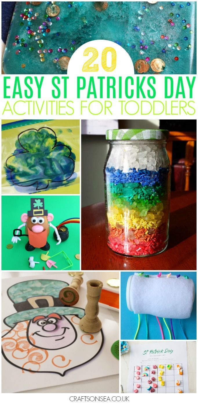 easy st patricks day activities for toddlers preschool #stpatricksday #kidsactivities #toddler #preschool #kidscraft