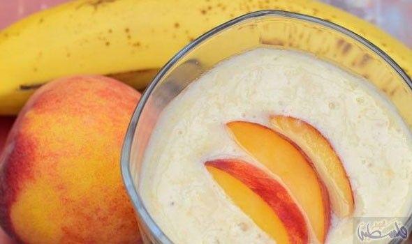 طريقة عمل سموثي الخوخ مناسب للنباتيين Food Peach Fruit