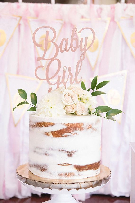 Baby Girl Cake Topper, Baby Dusche Cake Topper, Ge…