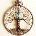 Chakra stone set necklace Tree of life Chakra art jewelry