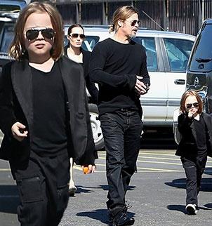 Knox Jolie Pitt looking like Brad Pitts mini me