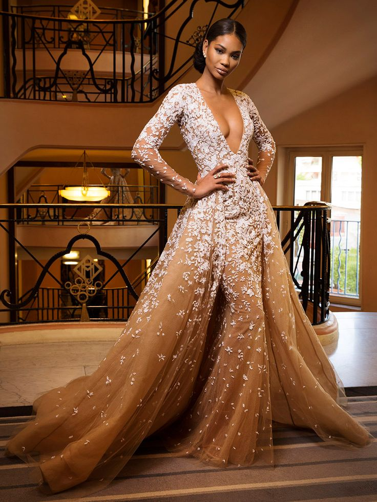 Well if and when I do get married, it will be in this:  Chanel Iman (Youth) in Zuhair Murad #Cannes2015