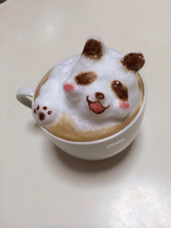 3D Latte Art - Panda