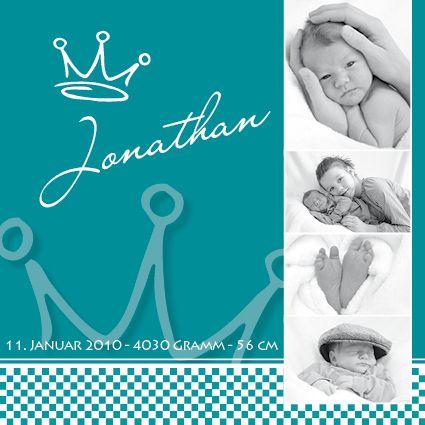 Elegant Einladungskarten   Karte Zur Geburt   Krone   Ein Designerstück Von  Druckkopf Bei DaWanda