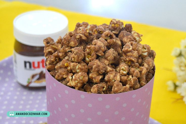 receita pipoca doce gourmet nutella