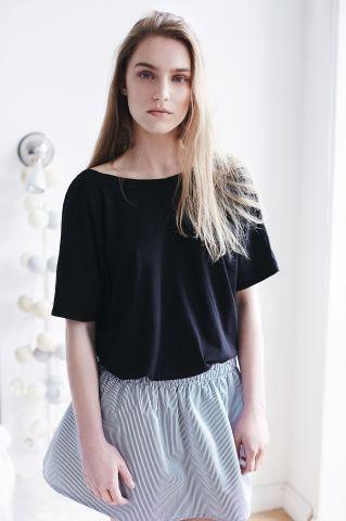 THE ODDER SIDE Striped mini skirt. Shop at www.theodderside.com