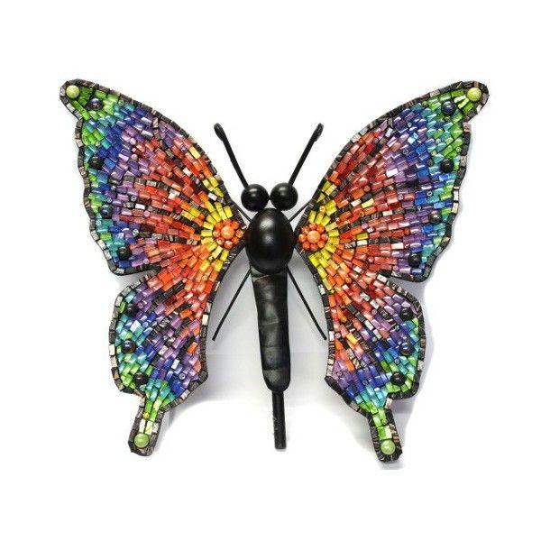 Kit mosaique papillon arc-en-ciel