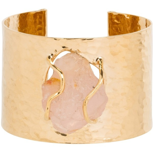 Mercedes Salazar Raw Stone Cuff ($238) ❤ liked on Polyvore