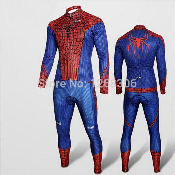 Aliexpress.com: Comprar Superhéroe Spiderman ciclismo trajes The Avengers carretera ropa Bike Jersey largo y pantalones bicicleta traje de Halloween Cosplay de tapa de cosplay fiable proveedores en Kung Fu Small