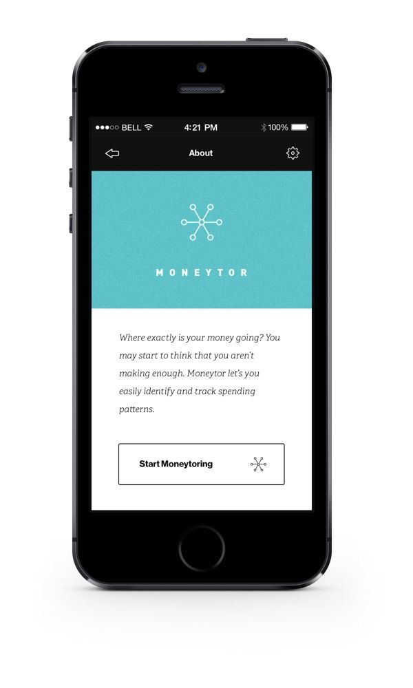 App / Moneytor on Behance [Simplified Article View Inspiration]