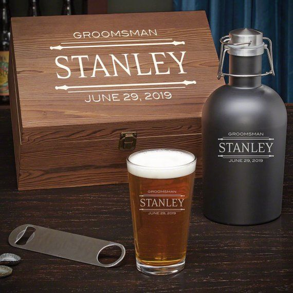 Stanford Personalized Beer Gift Set Groomsmen Gift Idea Beer Lover Gift Best Man Gift Etched Pi Beer Gift Sets Gifts For Beer Lovers Beer Gifts
