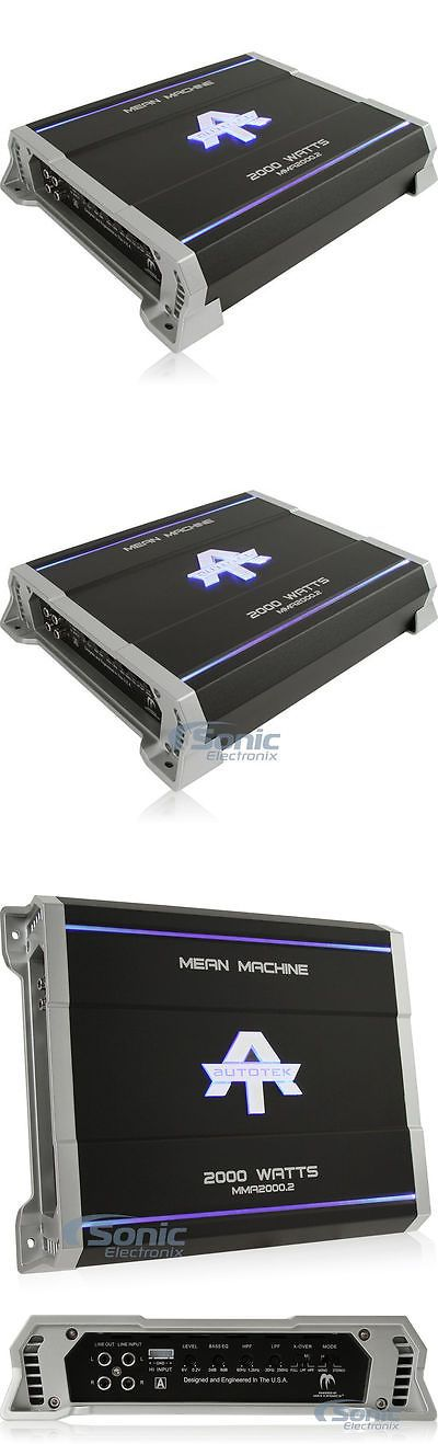 Car Amplifiers: New! Autotek Mma2000.2 2000W 2-Channel Mean Machine Car Amplifier Car Audio Amp BUY IT NOW ONLY: $76.46