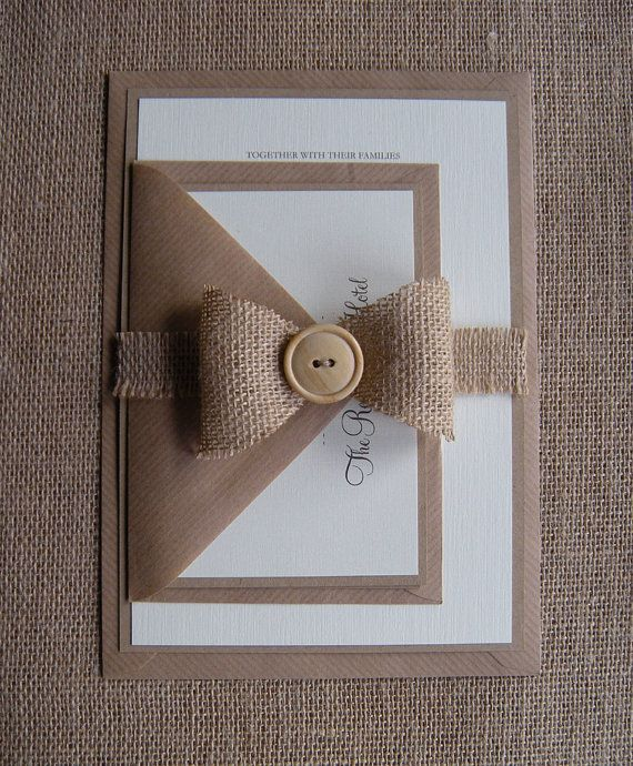 Rustic Wedding Invitation Eco Wedding Invitation by JRTDaisy