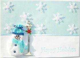 Christmas Card: Snowy Snowman