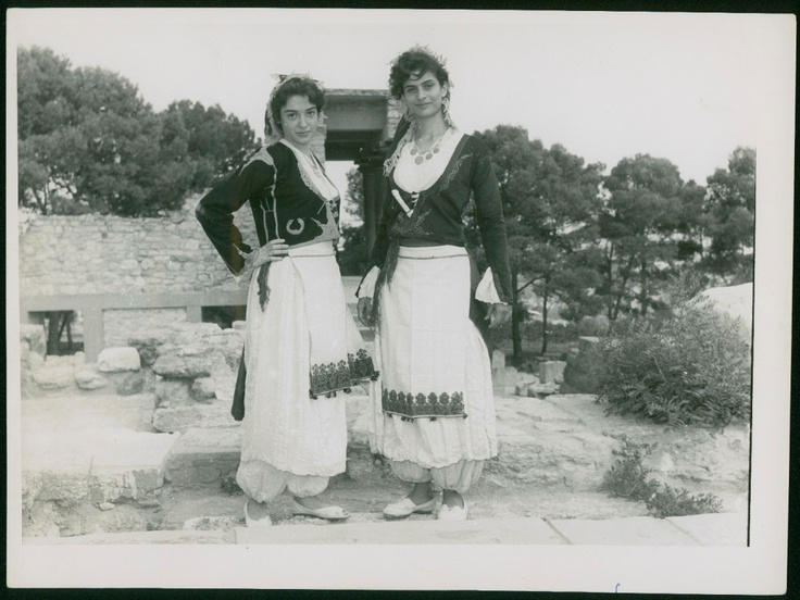 Greece Crete Candia Knossos Folk Dresses Vintage Photo | eBay