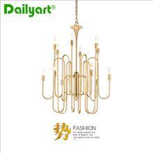 New Modern Nordic Creative Golden Horn Droplight Luxury Restaurant Pendant Light Novelty Indoor High Quality Home Lighting(China (Mainland))