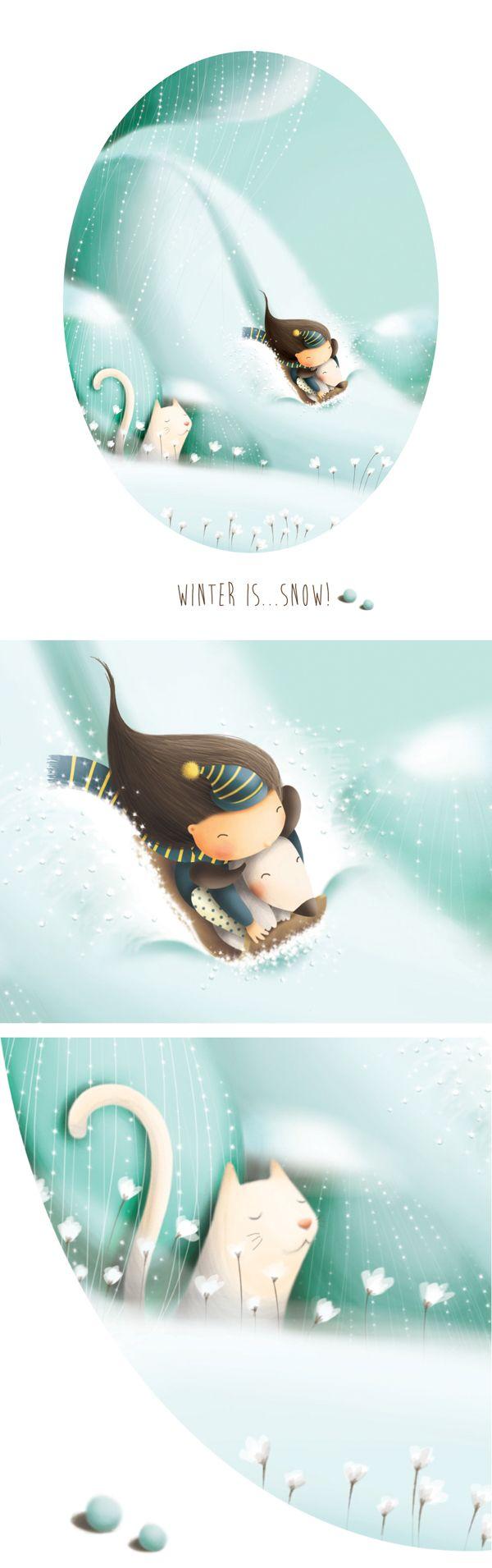 Seasons / Winter is...Snow! by Elisa Ferro, via Behance