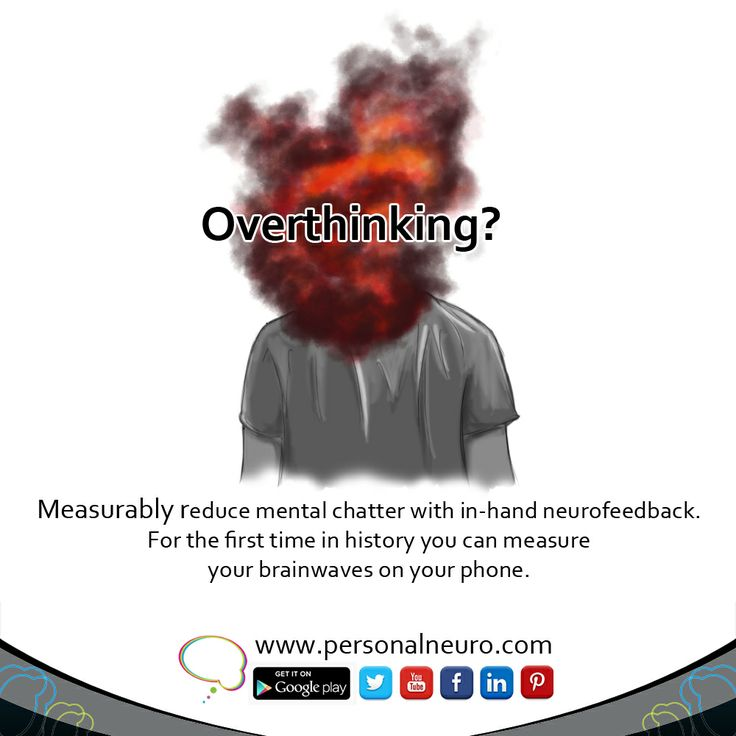 Too much thinking is due to too much activity in the left side of the brain. Understand what is happening in your head with Personal Neuro Devices. www.personalneuro.com #neuroscience #meditation #brain #thinking