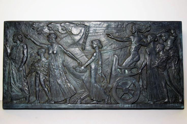Bassorilievo in bronzo cm.70 X 34