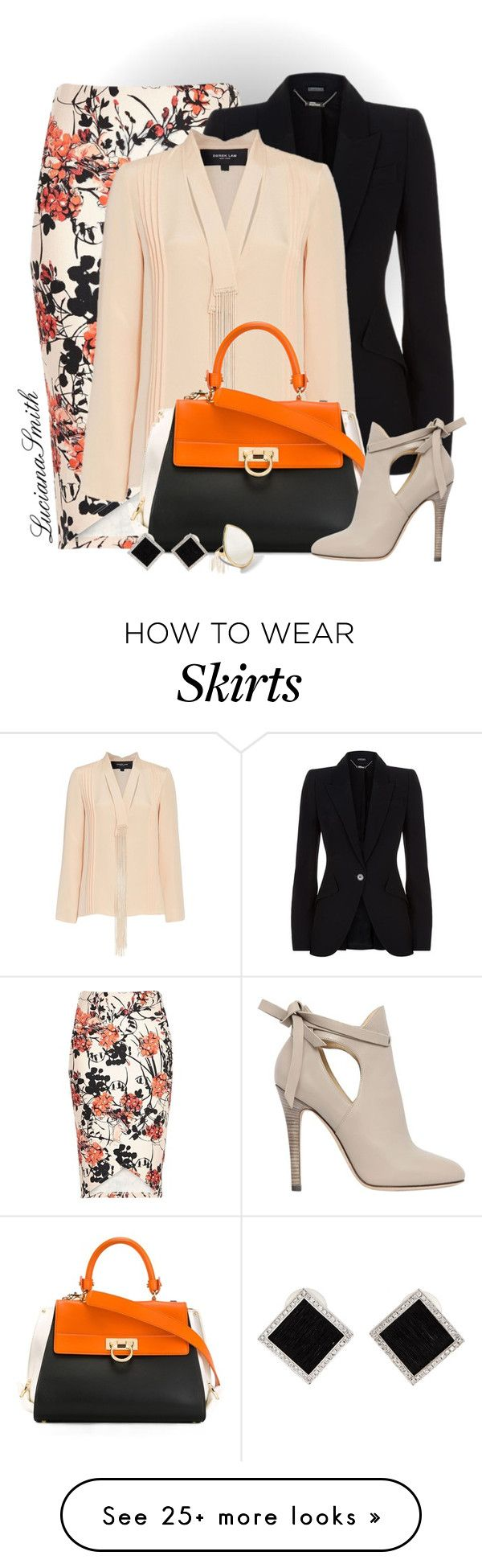 """""""Ankle Boots & Percil Skirt"""" by lucianasmith on Polyvore featuring River Island, Alexander McQueen, Derek Lam, Salvatore Ferragamo, Jimmy Choo, Ippolita and Yvel"""